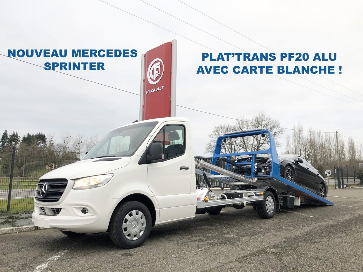 Plat'trans pf20 alu on new mercedes sprinter 3t5 with recovery equipment!