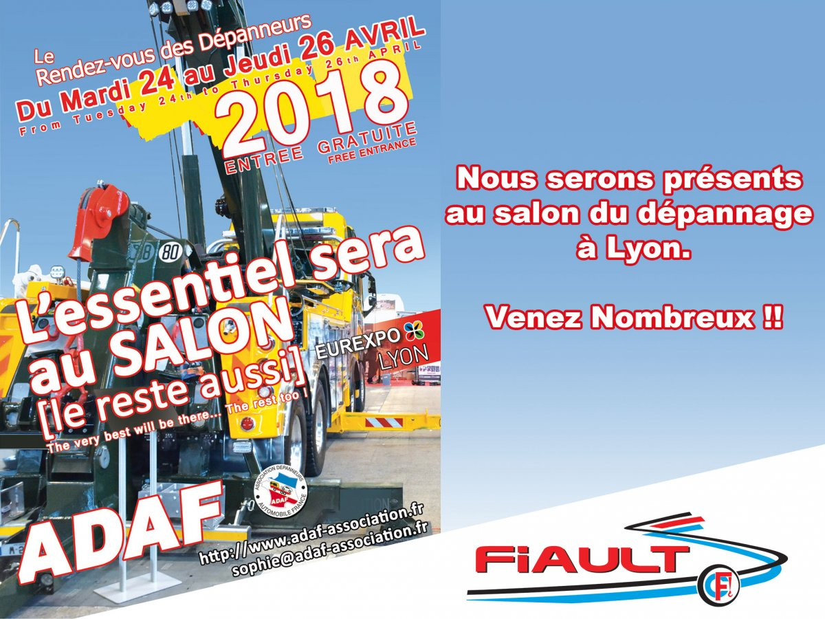 Tow show in france in lyon (69) from tuesday 24th to thrusday 26 april of 2018